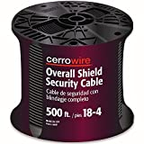 CERRO 225-1004J 500-Feet 18/4 Shielded Security Wire, 18-Gauge, 4 Ground
