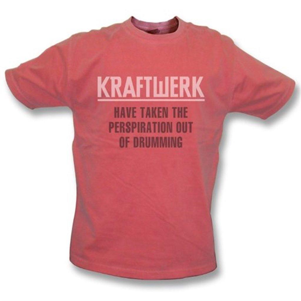 Kraftwerk ha sacado la transpiración de teclear la camiseta del lavado del vintage, rojo del color TshirtGrill