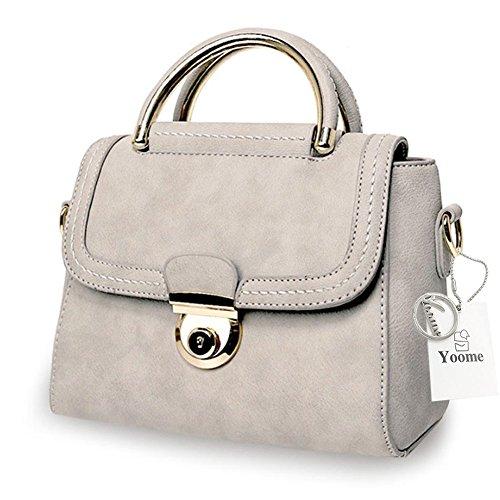 Yoome Retro Taschen für Geldbörse Top Handle Taschen für Frauen Kleine Damen Geldbörse Geldbörse Makeup Tasche Tasche - Beige G6sd26
