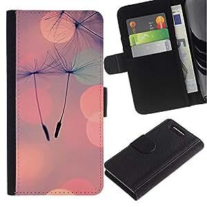 For Sony Xperia Z3 Compact Case , Seed Peach Love Spring Summer - la tarjeta de Crédito Slots PU Funda de cuero Monedero caso cubierta de piel