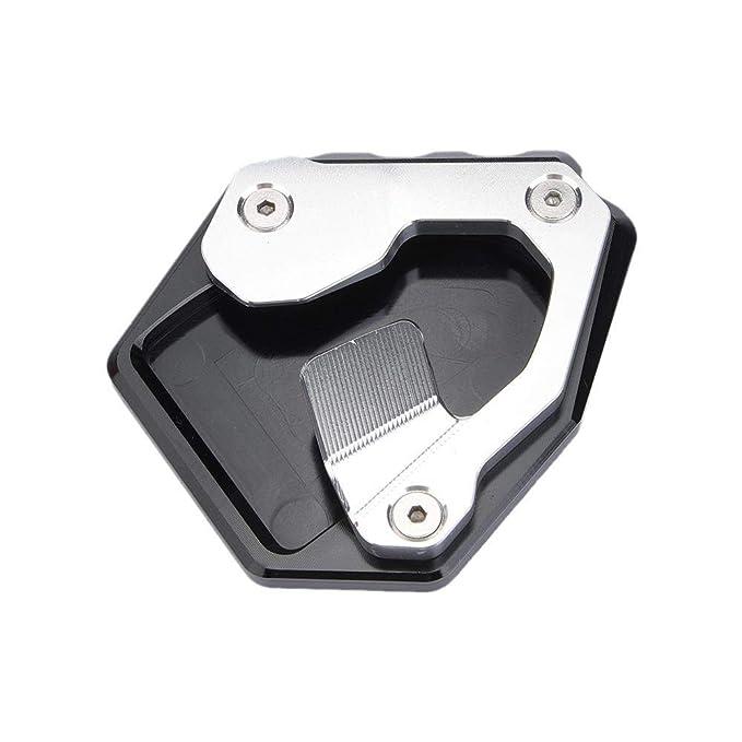 DONXIANFENG Cavalletto for motocicli Cavalletto laterale del piede di estensione rilievo piastra di supporto Fit Honda CRF CRF1000L 1000L Africa Twin ABS//DCT 2016 2017 Color : Titanium