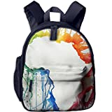 Abstract Africa Map Double Zipper Waterproof Children Schoolbag With Front Pockets For Kids Boys Girls