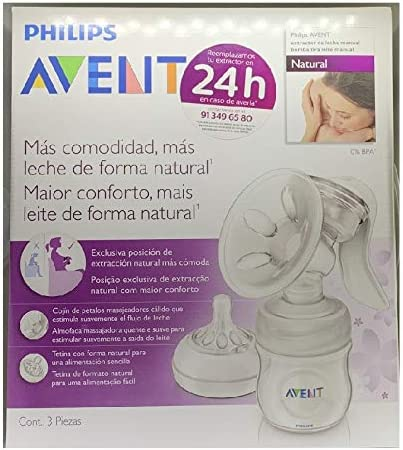 SACALECHES AVENT MANUAL EXTRACCION NATURAL Y CONFORT ABLE