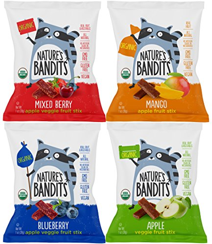 Nature's Bandits, Organic Treats, Variety Mix Sampler Package by Variety Fun (12 Count)
