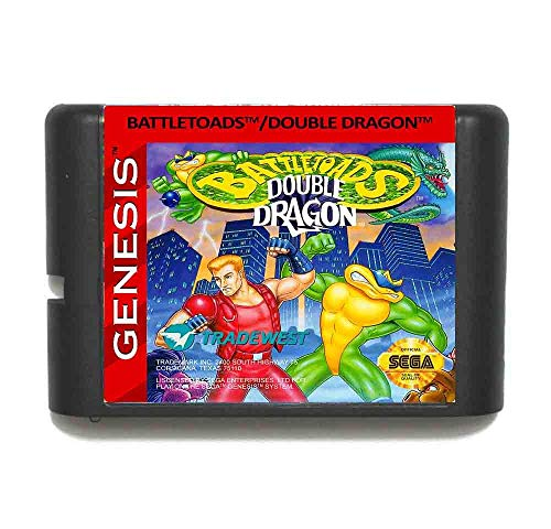 Battletoads And Double Dragon The Ultimate Team 16 Bit Md Game Card For Sega Mega Drive For Genesis