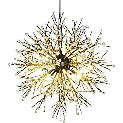 GDNS 8 Pcs Lights Chandeliers Firework led Vintage Wrought Iron Chandelier Island Pendant Lighting Ceiling Light, Dia 23.5 inch