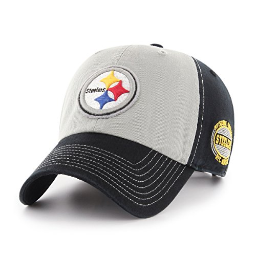 (NFL Pittsburgh Steelers Men's Tuscon OTS Challenger Adjustable Hat, Team Color, One Size)