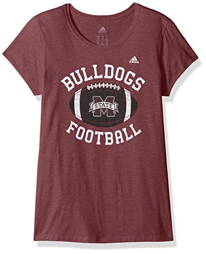 NCAA Mississippi State Bulldogs Women's Game Day Double Arch Cap Sleeve Tee, X-Large, Classic Maroon Heathered