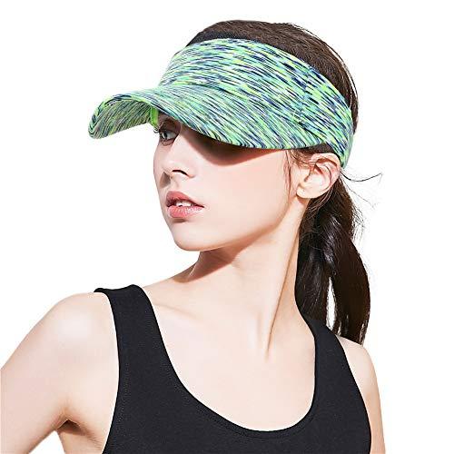 XIYUE Sports Sun Visor Hats for Men Women Outdoor Golf Tennis Running Hat Mesh Adjustable Cap Green