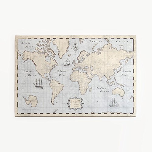 Amazon world travel map pin board rustic vintage handmade world travel map pin board rustic vintage gumiabroncs