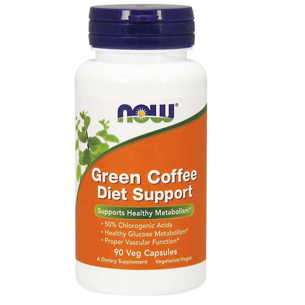 Now Supplements, Green Coffee Diet Support with Naturally Occurring Chlorogenic Acids, 90 Veg Capsules by NOW Foods