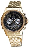 Daniel Steiger Enduro Automatic Men's Watch - Black Dial - Gold Plated Stainless Steel Case - Day, Date & Month Calendar - Skeleton Case Back
