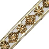 Product review for Leather Trim Golden Decorative Sewing Beaded Handmade Apparel Dress By 1 Yard