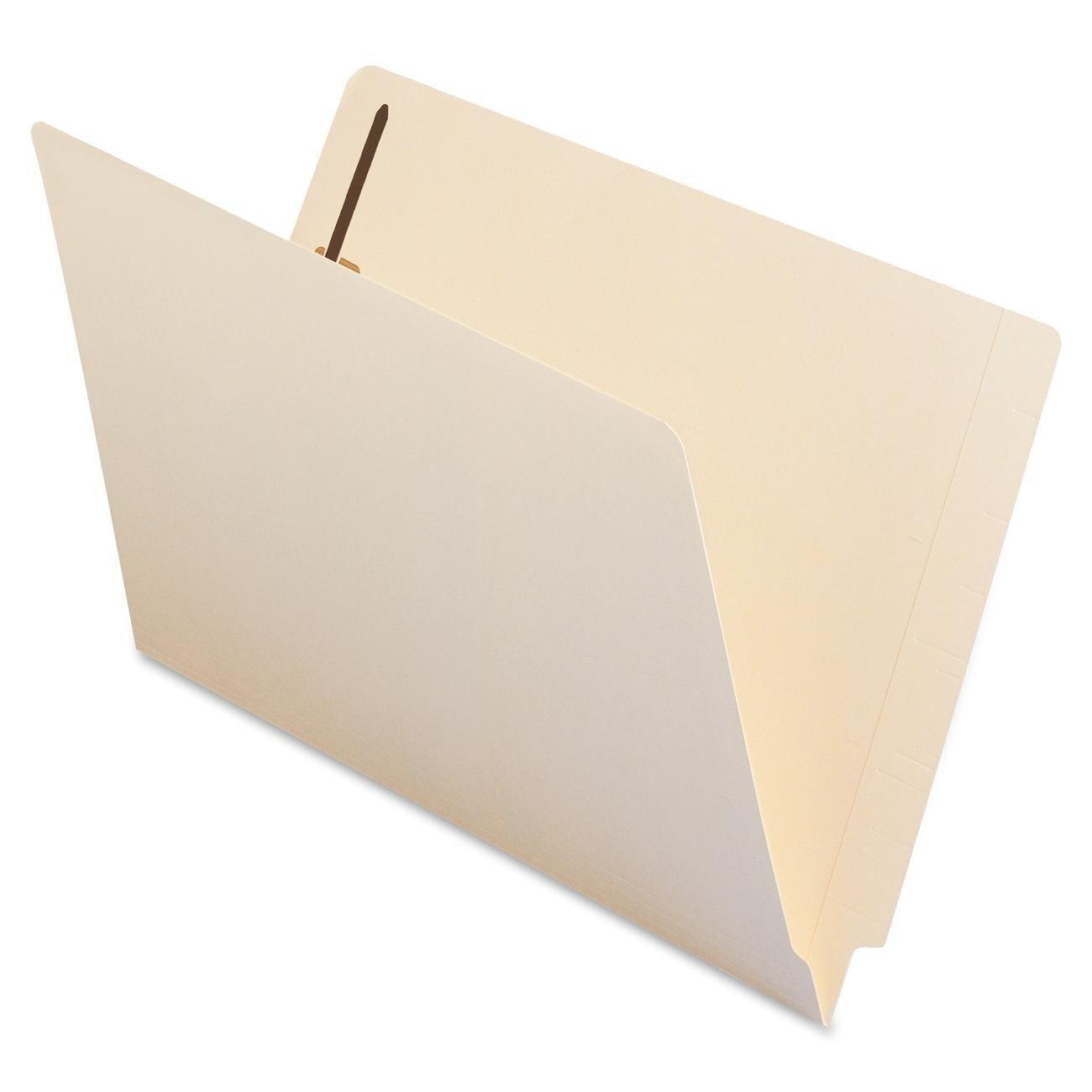 Smead End Tab Fastener File Folder, Shelf-Master Reinforced Straight-Cut Tab, 2 Fasteners, Legal Size, Manila, 50 per Box (37115)