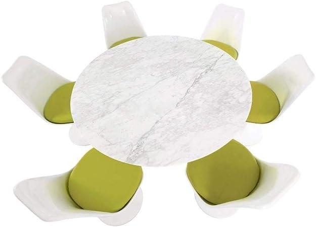 ElleDesign - Mesa redonda Eero Saarinen Tulip lacada en blanco ...
