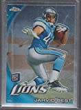 2010 Topps Chrome Jahvid Best Lions Rookie Football Card #C3