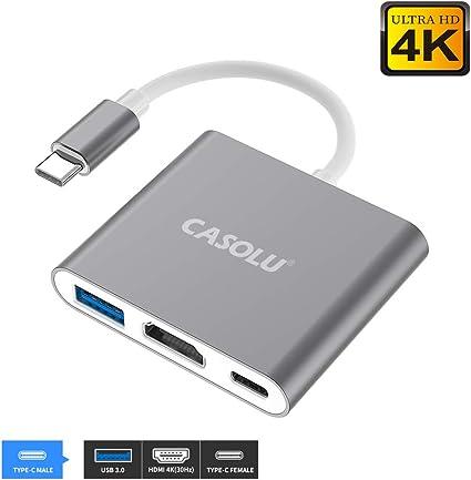 USB Type C to HDMI Digital AV Multiport Hub USB-C Adapter USB3.1