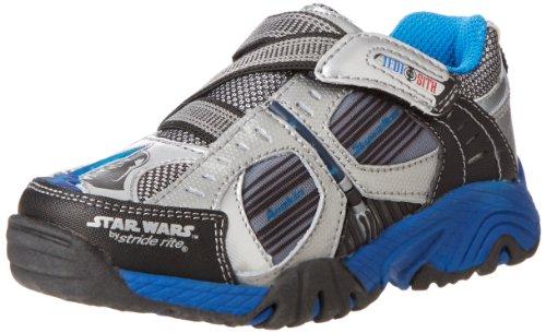 Stride Rite Star Wars Jedi To Sith Light-Up Sneaker (Toddler/Little Kid),Black/Silver/Blue,2 M US Little Kid
