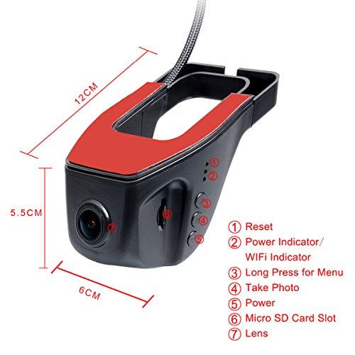 toguard wifi hidden car dvr auto dash camera video recorder 1080p novatek 96655 buy online. Black Bedroom Furniture Sets. Home Design Ideas