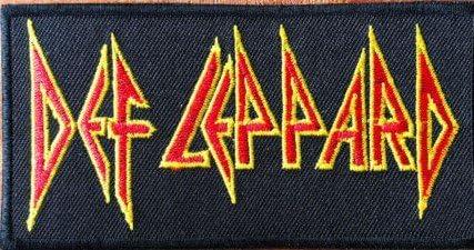 Def Leppard rojo y amarillo bordado insignia parche para coser o planchar 10 cm x 5 cm: Amazon.es: Hogar