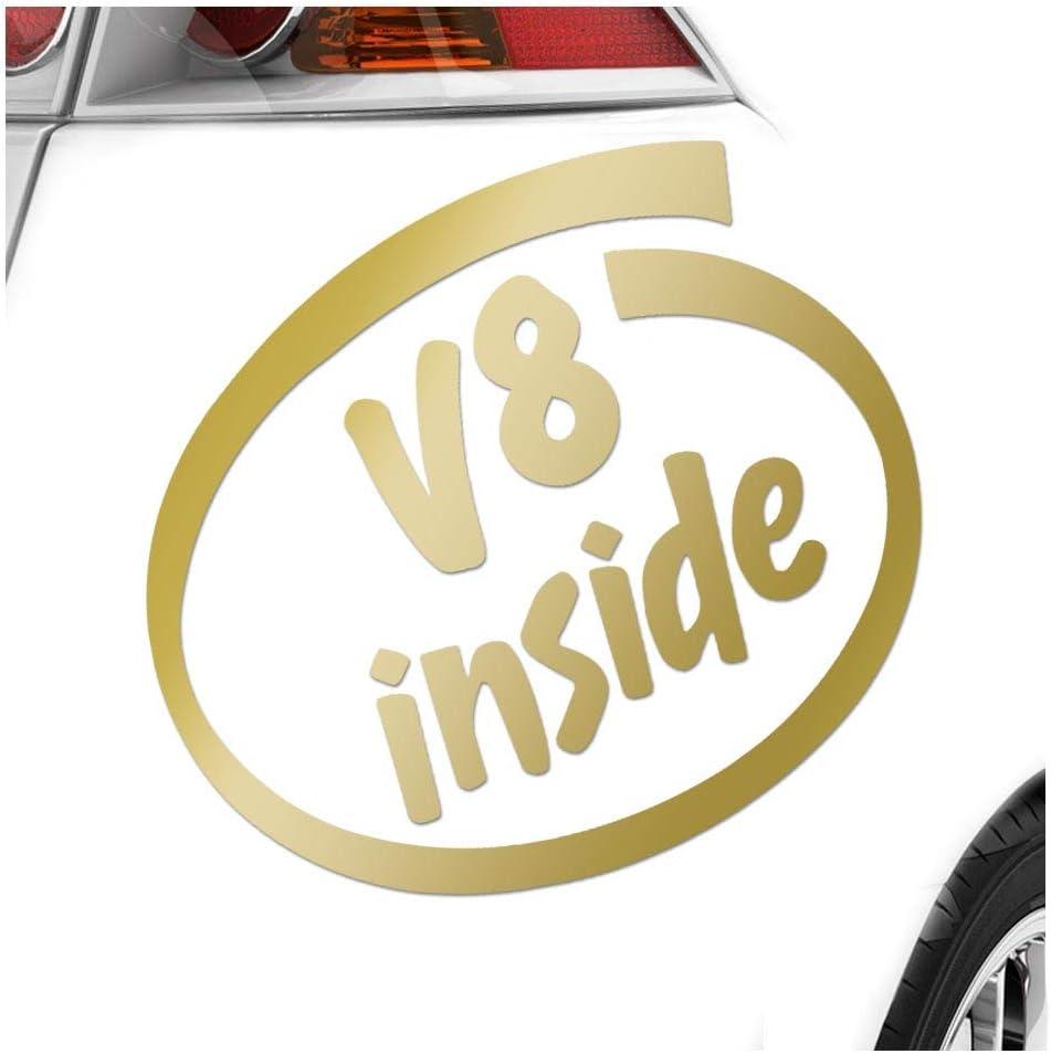 V8 Inside 11 X 10 Cm In 15 Farben Neon Chrom Sticker Aufkleber Auto