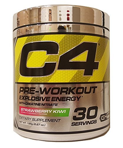 Cellucor 30 Servings C4 Pre-Workout Supplement for Men and Women, Strawberry Kiwi, 6.87 Ounce