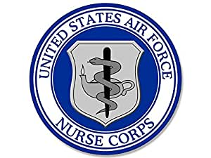 Amazon Com Round Us Air Force Nurse Corps Seal Sticker