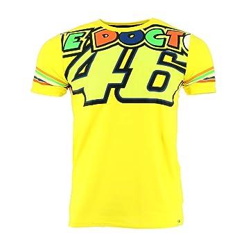 Valentino Rossi VR46 Moto GP The Doctor Stripes Amarillo Camiseta Oficial 2018: Amazon.es: Deportes y aire libre