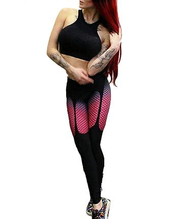Pantalon Chandal Mujer Leggings Estampado De A Cuadros Elásticos ...