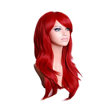 Red Cosplay Wigs Long Hair Anime Costume Wig 28 Inch Halloween Wigs for Women  sc 1 st  Amazon.com & Amazon.com: Red Cosplay Wigs Long Hair Anime Costume Wig 28 Inch ...