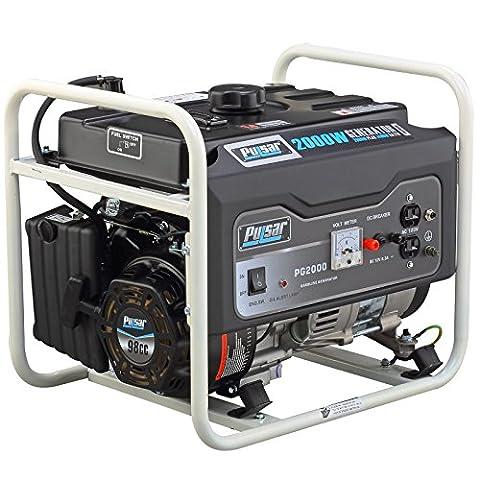 Pulsar PG2000 2000W Peak 1400W Rated Portable Gas-Powered Generator (Portable 2000w Generator)