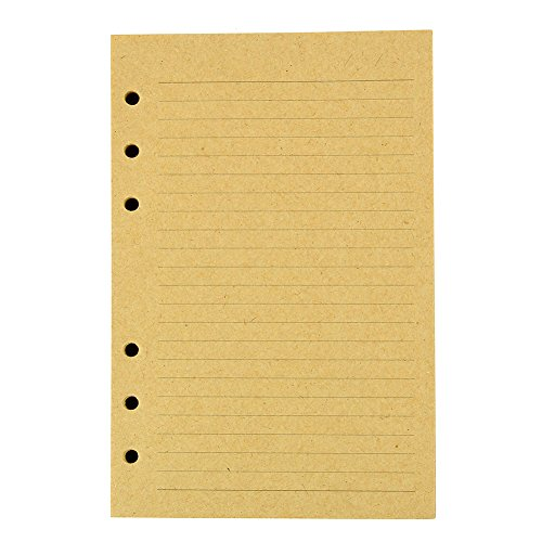 - A6 Journal Refills Kraft Inserts - 5 x 7 Binder Filler Papers, 120 Sheets / 240 Writing Pages, Lined
