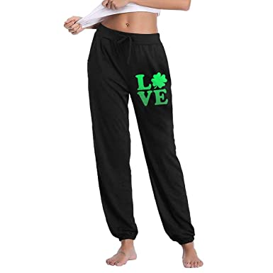 f42cbe29e Amazon.com: St Patricks Day Love Irish Shamrock Joggers Pants for Womens  Athletic Sweatpants Gym Workout with Pockets: Clothing