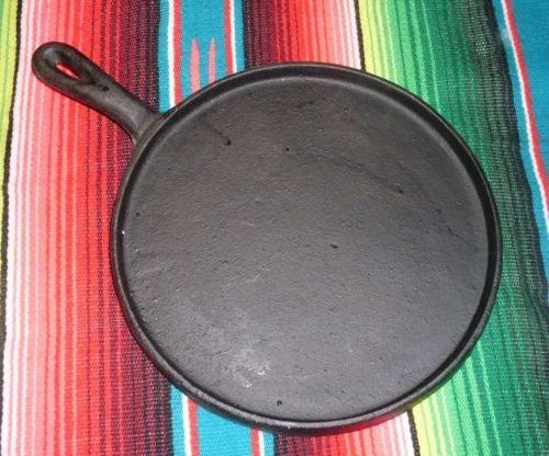 "Oro Import Cast Iron Flat Griddle Comal Tortilla Fajita 8"""