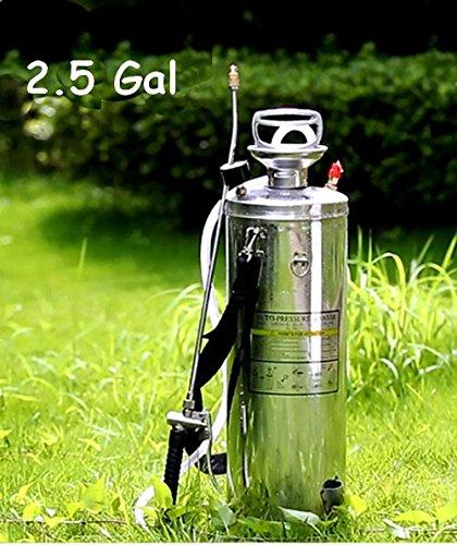 2.5gal Stainless Steel Garden Manual Pressure Sprayer Watering Nozzle Weed(Item#140087) by Tool