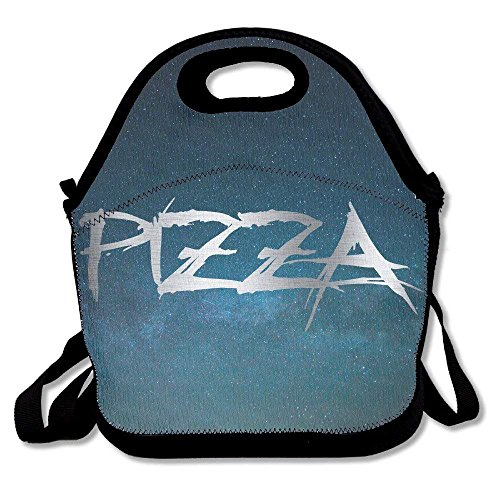 GoldBaoWang Pizza Platinum Style Neoprene Lunch Picnic Bag Insulated Lunch Box Waterproof Lunch Tote with Zipper Strap for Women Kids Boys Girls and Men ()