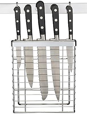 Metro - Jaula para cuchillos (cromada): Amazon.es: Hogar
