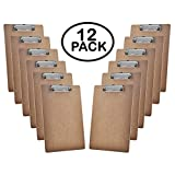 Acrimet Clipboard Letter Size A4 Low Profile Clip (Hardboard) (12 Pack)