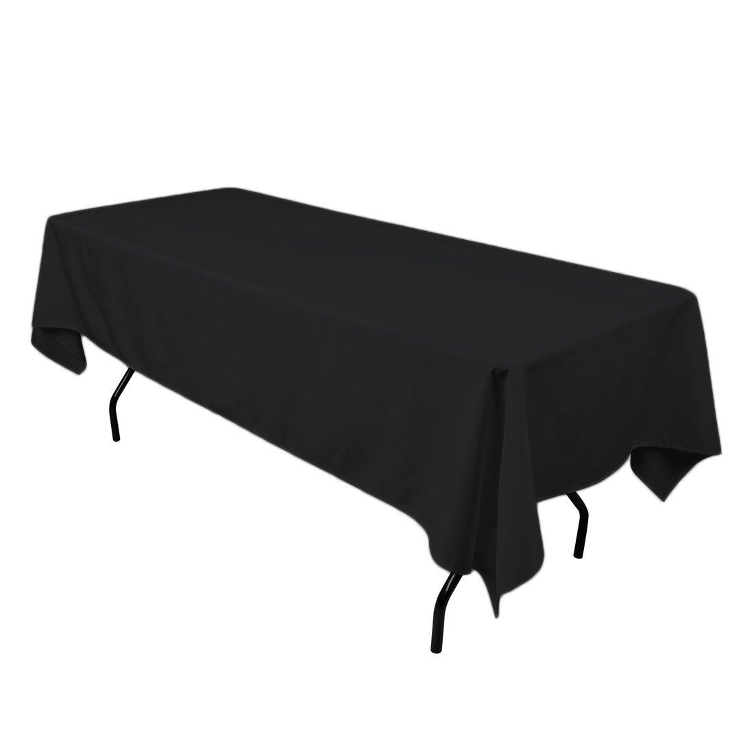 Design Black Tablecloth amazon com linentablecloth 60 x 102 inch rectangular polyester tablecloth black home kitchen