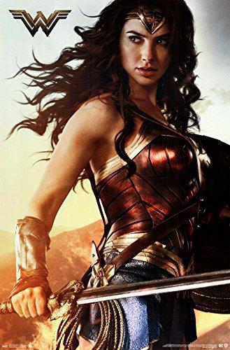 "Trends International Wonder Woman Shield Wall Poster, 22.375"" x 34"""