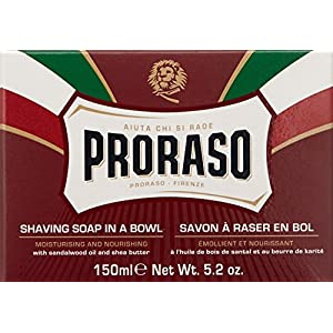 Proraso Shaving Soap in a Bowl, Moisturizing and Nourishing, 5.2 oz