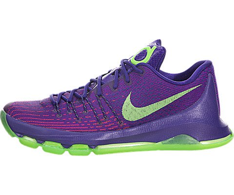 Purple Basketball Shoe - NIKE Men's KD 8 Basketball Shoe (12, Purple/Neon Green)