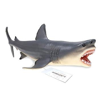 Amakunft Megalodon - Adorno para Acuario, diseño de tiburón, Resina Duradera, Seguro para