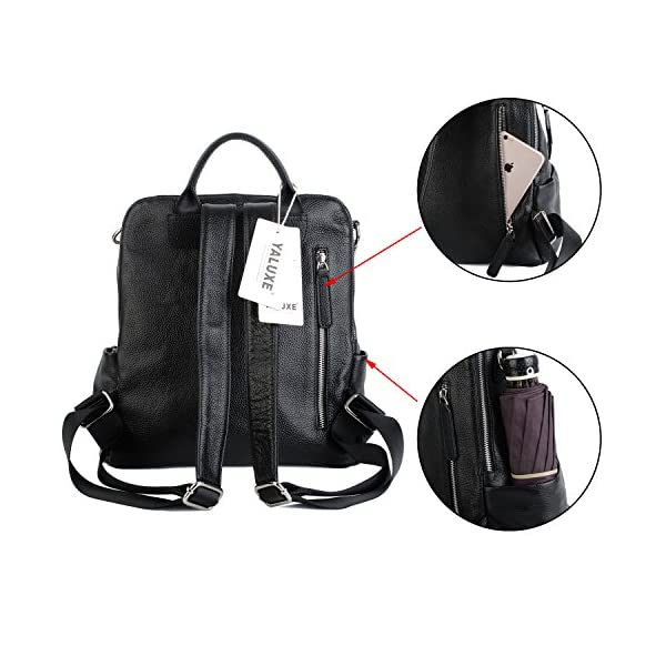 YALUXE Women Backpack Purse Convertible Real Leather Versatile Shoulder Bag
