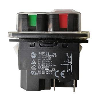 KEDU KJD17B//120V 16A 4 Pin Waterproof Electromagnetic On Off Push Button Switch