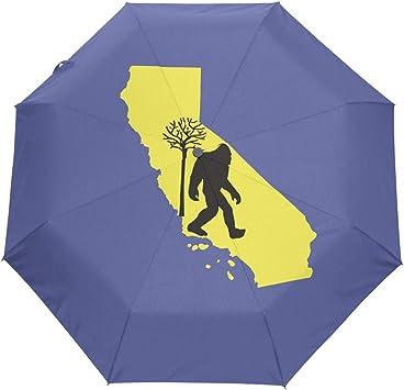 Bigfoot Automatic Open Folding Compact Travel Umbrellas For Women