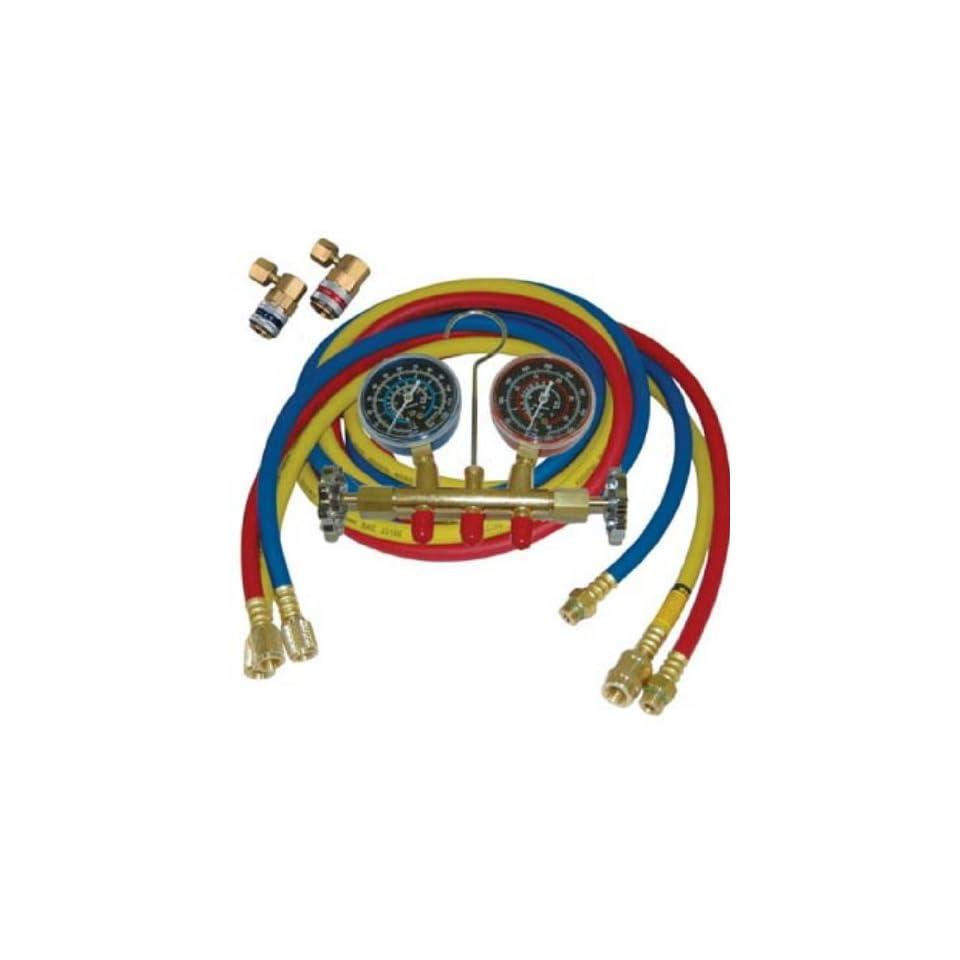 ATD Tools 3687 R134a Brass Manifold Gauge Set