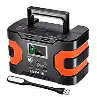200W Portable Solar Generator, FlashFish...