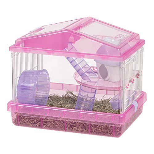 IRIS 2-Tier Hamster Cage, Trans Pink