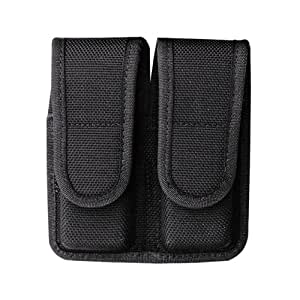Bianchi Police Equipment 1016207 7302 Double Mag Pouch Black Size 4 Glock 20 Hidden
